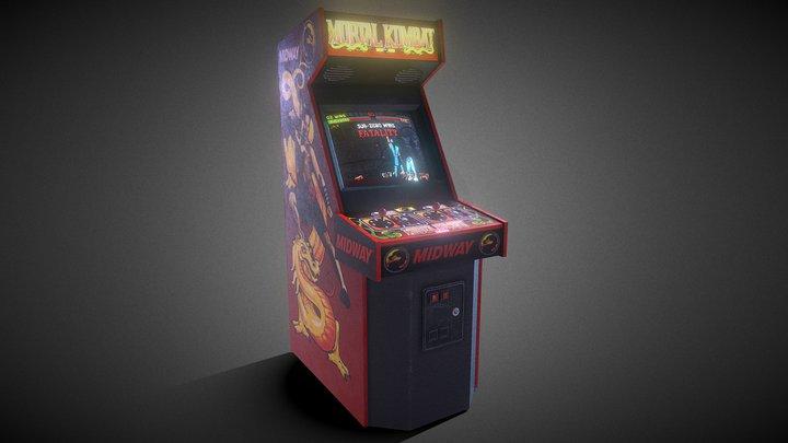 Retro Mortal Kombat Arcade Machine 3D Model