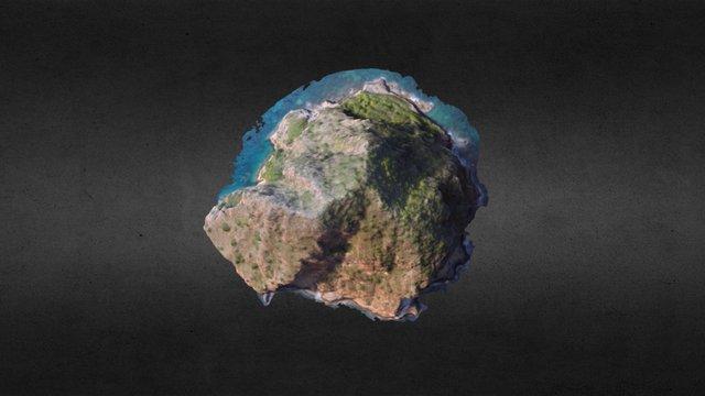 Rocher du Diamant Martinique 3D Model