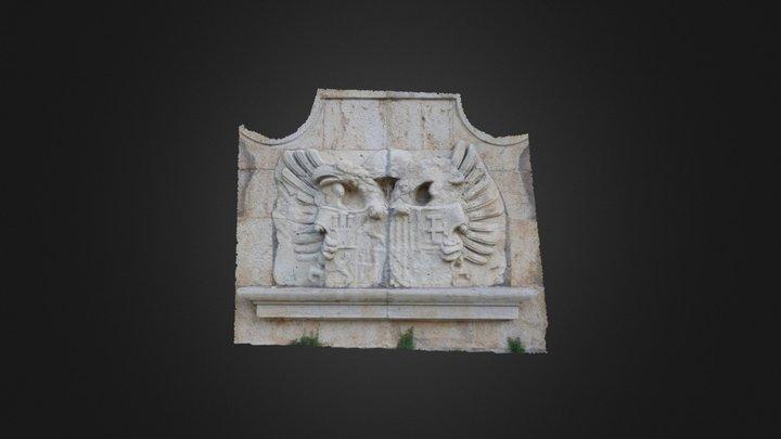 Escudo Fachada Lateral Convento de las Bernardas 3D Model