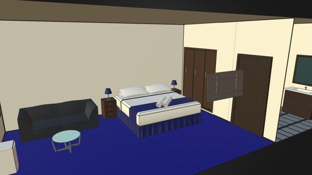 Finished Hotel Room 3D Model