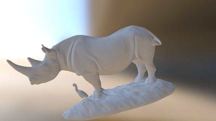 Rhino - Bronzart 3D Model