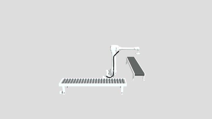 Simulación 8 con RobotStudio ABB, Paletizado 3D Model