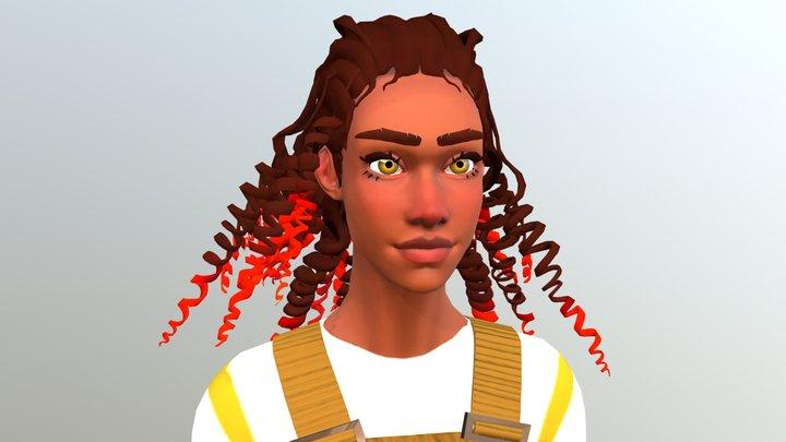 girl02 3D Model