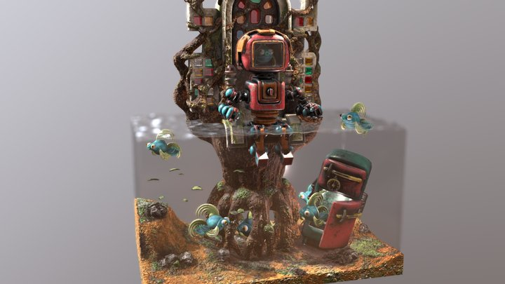 Throne of the forest 3D Model