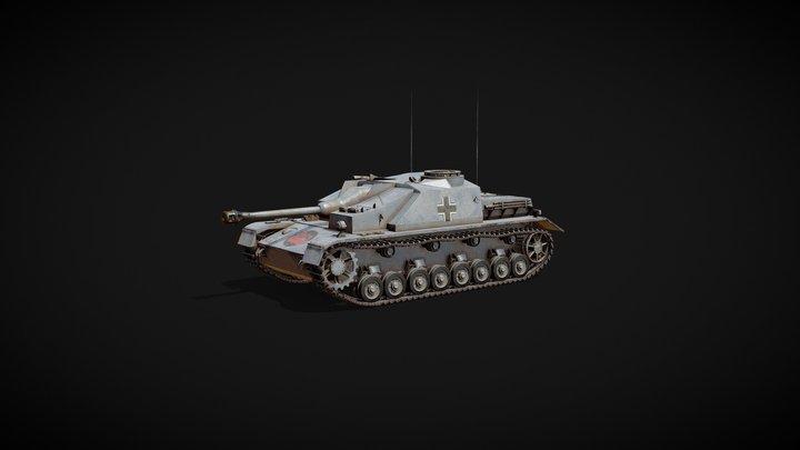 Sturmgeschütz IV (StuG IV, Штурмгешютц IV) 3D Model
