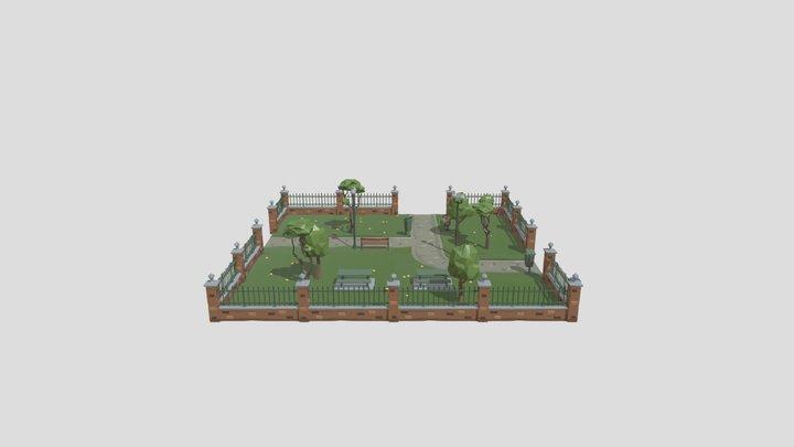 ParkScene 3D Model
