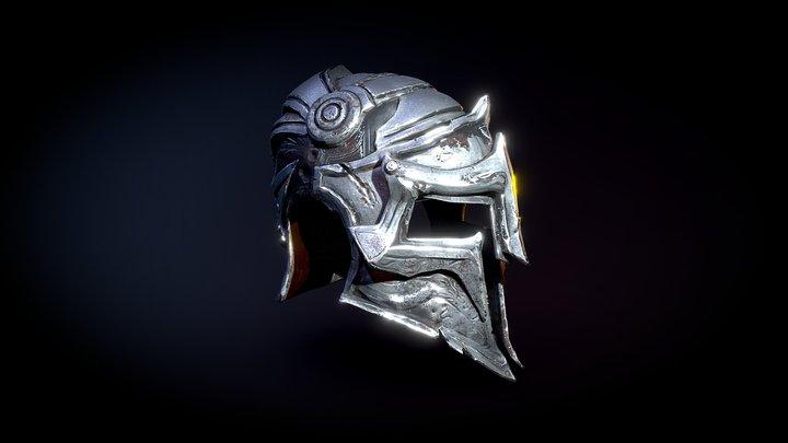 Fantasy Knight Helmet 3D Model