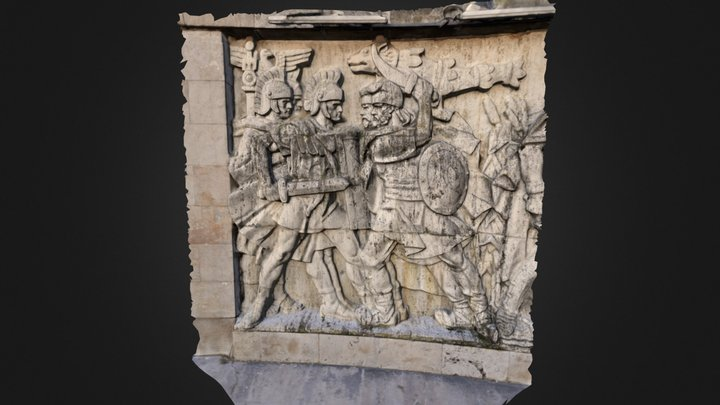Dacian basorelief 01 3D Model