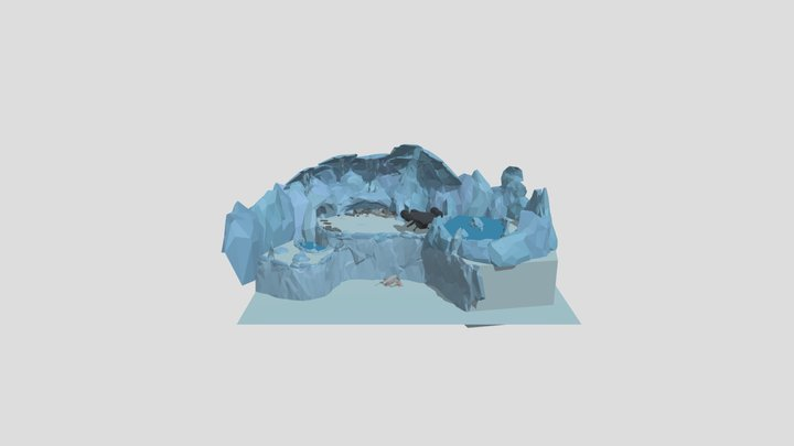 Low-Poly Hoth Post Boss Room 3D Model