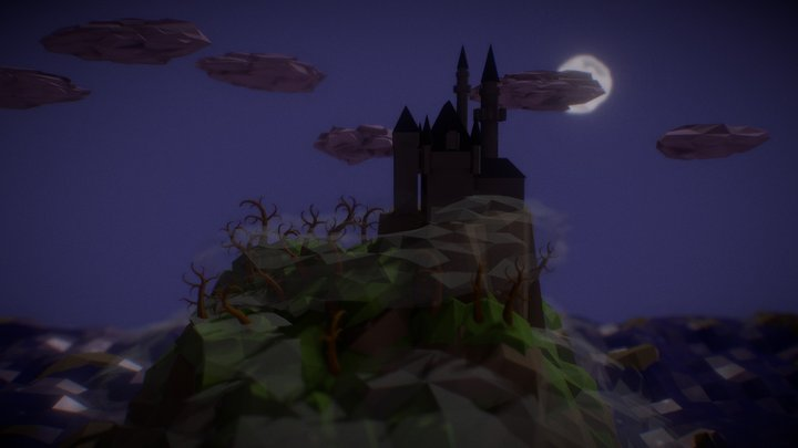 Low Poly SpookyLand 3D Model