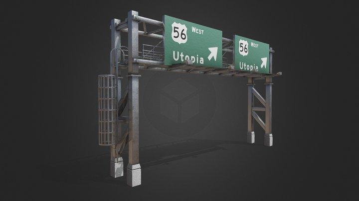 Gantry Sign [Tutorial Included] 3D Model