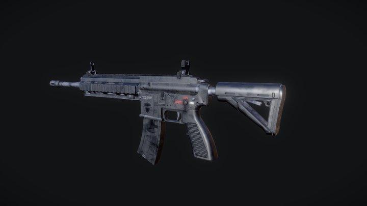 HK416 3D Model
