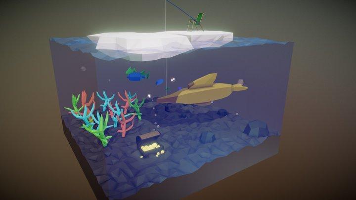 Underwater Cornucopia of Treasures 3D Model