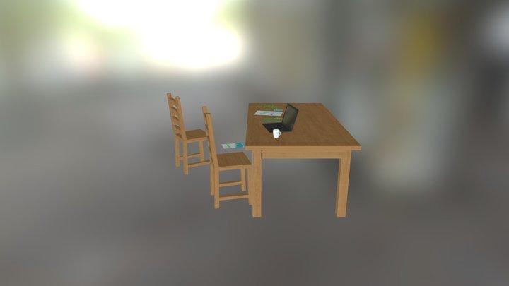 Table Test 3D Model