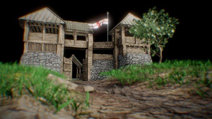 Medival Scene 3D Model