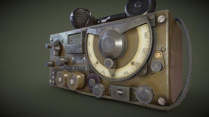 A7B USSR Military Radio 3D Model