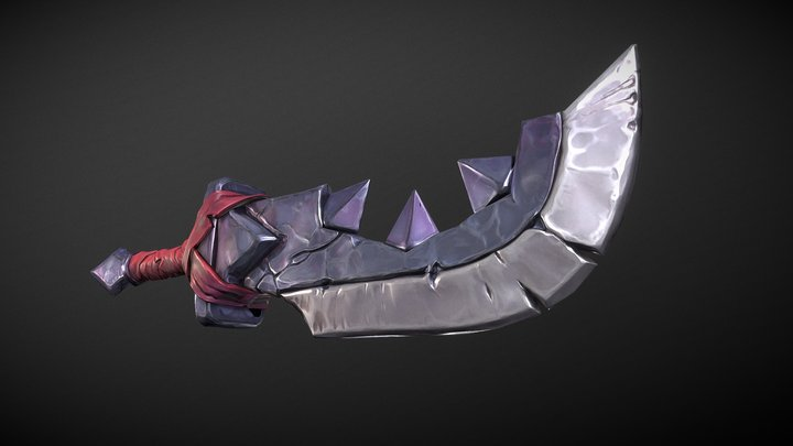 Sword Concept (stylized prop real time) 3D Model