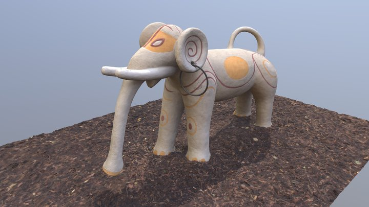 Elefant Spielplastik 3D Model
