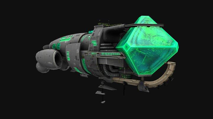Crystal Battleship 3D Model