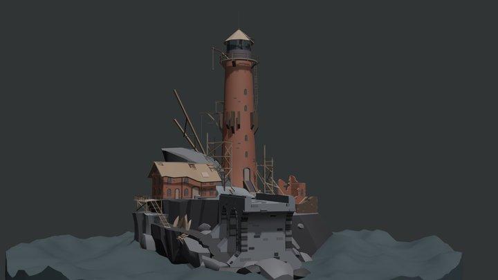 Abandoned lighthouse_Draft 3D Model