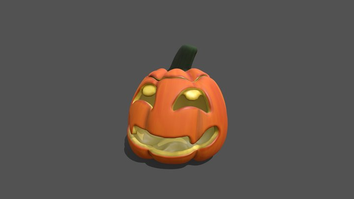 An October Pumpkin 3D Model