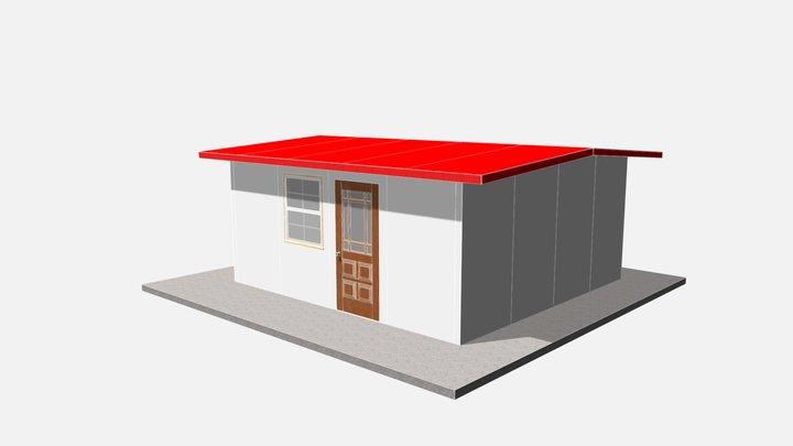 256 sq ft 24 sq m 3D Model
