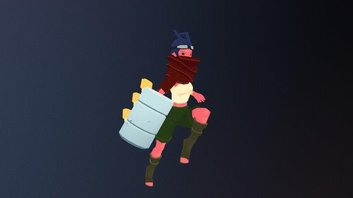 Cursed Girl 3D Model