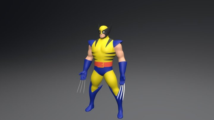 Wolverine Model with knifes 3D Model