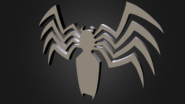Venom Symbol 3D Model