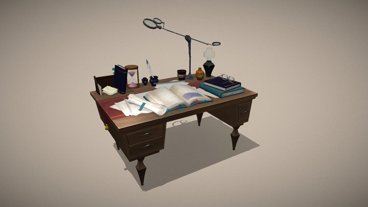 Stylized desk 3D Model