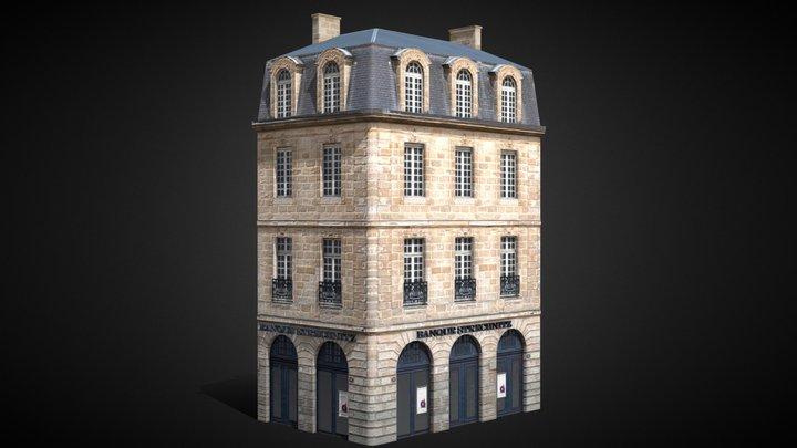 Bordeaux Flat 1 corner [France] 3D Model