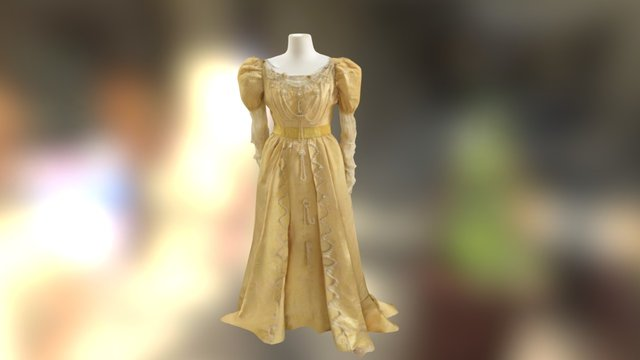 Maria Collin's ball gown 3D Model