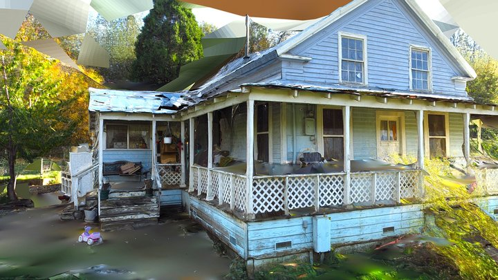 Groveland California 1860s House 3D Model