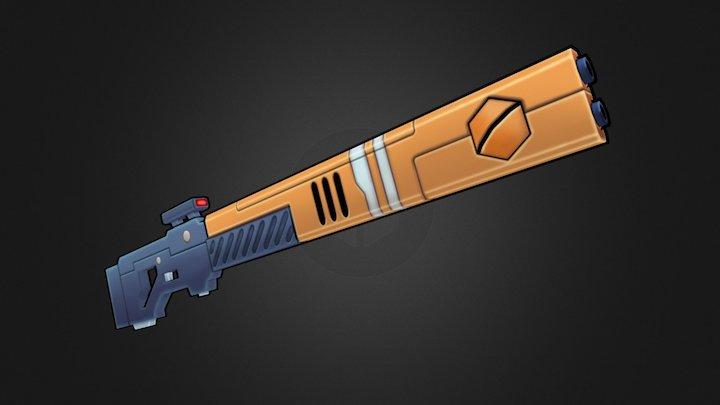 Tau Pulse Rifle - Low-Poly 3D Model