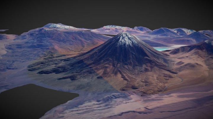 Licancabur Volcano previs geometry 3D Model