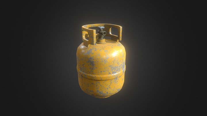 Simple Propane Tank 2 3D Model