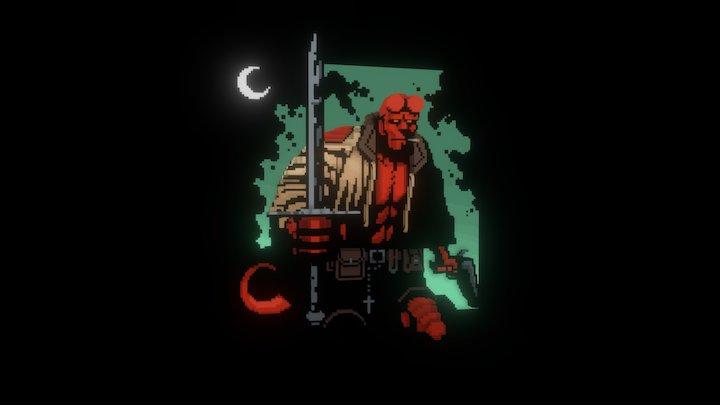 Blocktober2017 31 Hellboy 3D Model