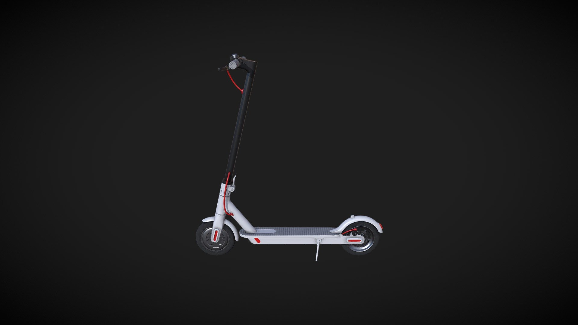 Xiaomi Mijia Electric Scooter Buy Royalty Free 3D Model By