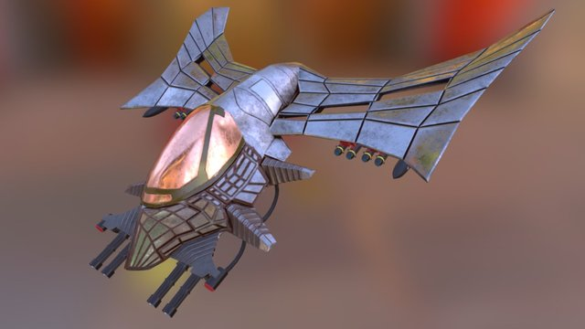 Wasp Bomber with the textures 3D Model