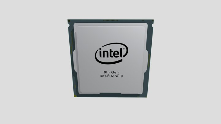 Processor Intel Core i9 3D Model
