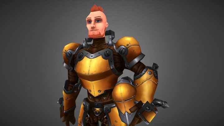 Yellow Knight 3D Model