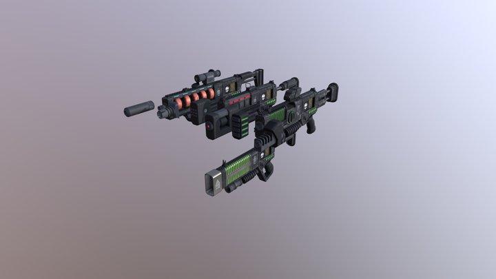 Rheinmetall EG-7 Energiegewehr 3D Model