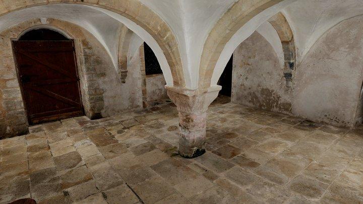 Abbaye de Longues - Salle de la source 3D Model