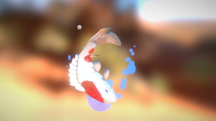 Fish White 3D Model