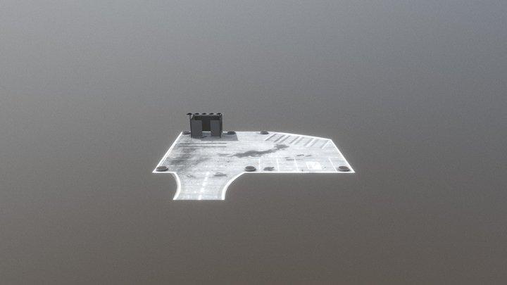 Parking Lot Game Asset 3D Model