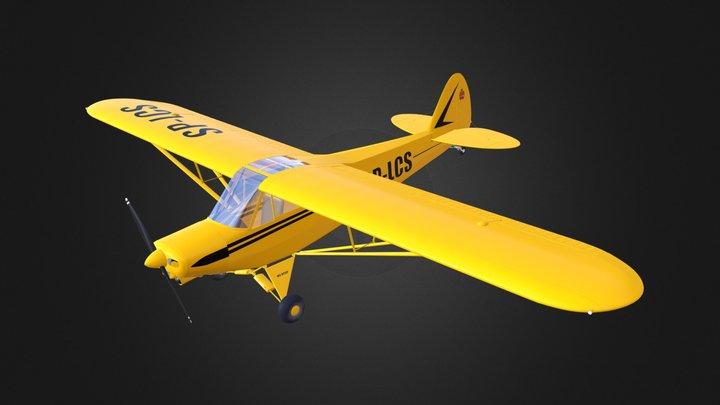 piper_pa18_bs 3D Model