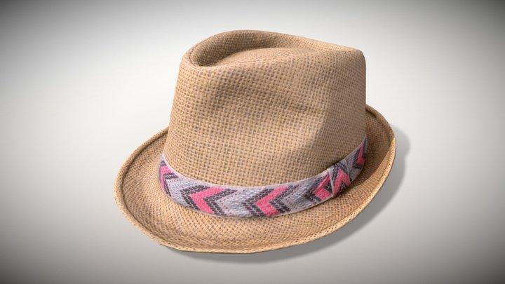 "Straw Hat ""Ibiza"" - Photoscanned PBR 3D Model"
