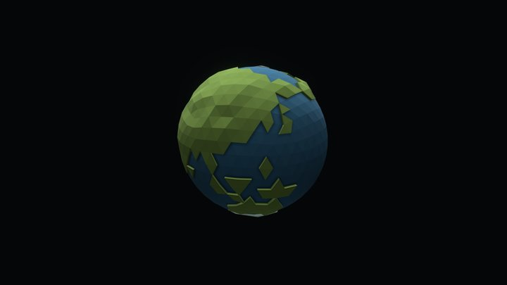 LowPoly Earth 3D Model