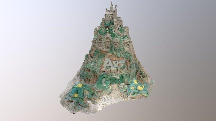 Art On The Green Sandcastle 2017 3D Model