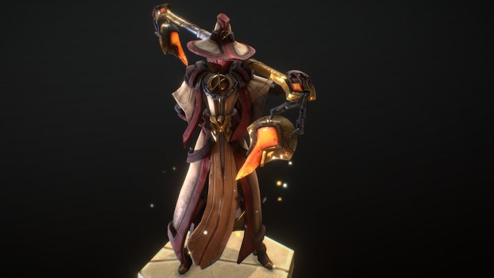 Devoted Curate 3D Model